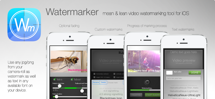 Video watermarking / branding tool for iPhone and iPod 4th gen